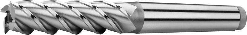 Tapper shank end mills long, coarse teeth, 45°, type W
