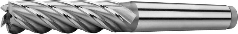 Tapper shank end mills long, semicoarse teeth, 35°, type N