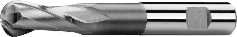 Ball nose end mills long, 2-fluted, Weldon shank