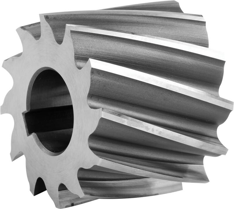 Shell end mills, semicoarse teeth, type N