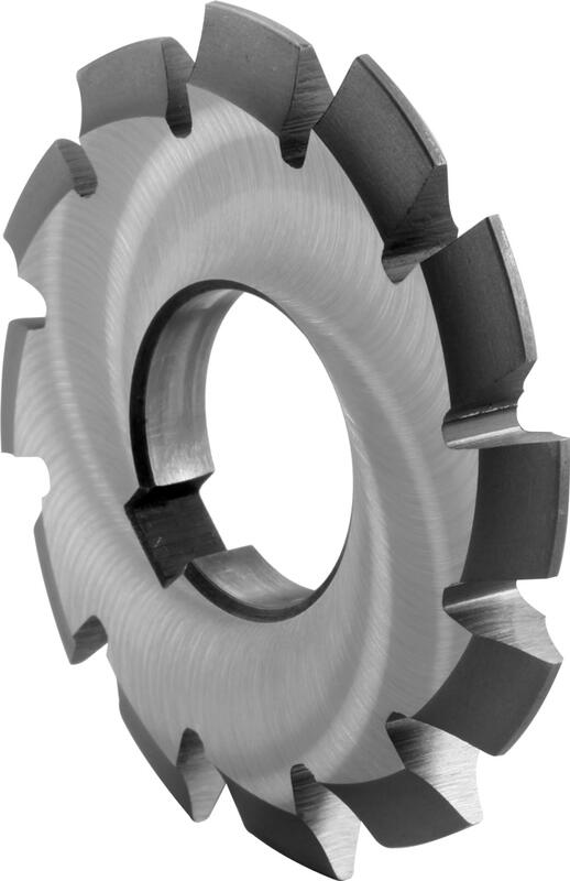 Involute gear cutters for spur wheels, pressure angle 20°