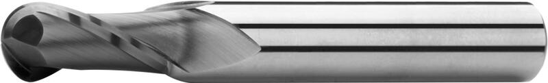 Ball nose end mills long, 2-fluted, type N, plain shank