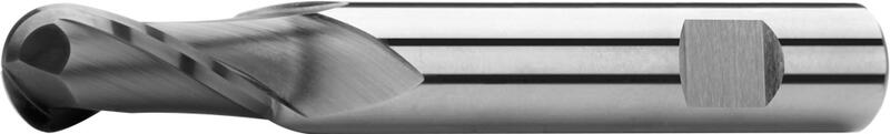 Ball nose end mills long, 2-fluted, type N, Weldon shank