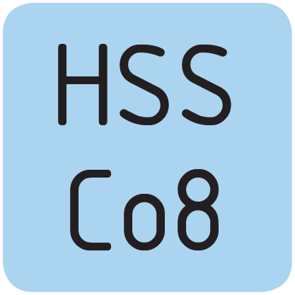 Material HSS Co8.